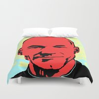 picard Duvet Covers featuring Captain Jean Luc Picard by Chadventure