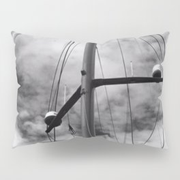 Looking Up into sailing rigging Pillow Sham