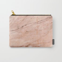 Rose-Gold Marble Carry-All Pouch