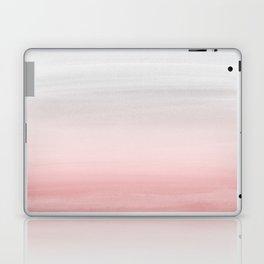 Touching Blush Gray Watercolor Abstract #1 #painting #decor #art #society6 Laptop & iPad Skin