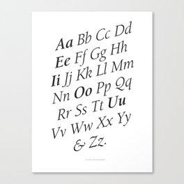 Classy Alphabet Canvas Print