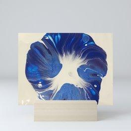 Sapphire Blue Floral Mini Art Print