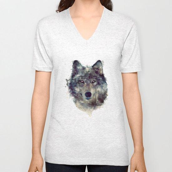 Wolf // Persevere  Unisex V-Neck