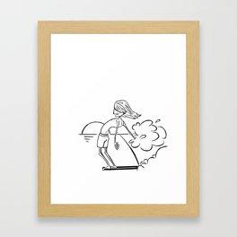 Noseride Framed Art Print