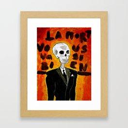 La mort vous va si bien II Framed Art Print