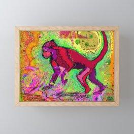 Monkey dreamer Framed Mini Art Print