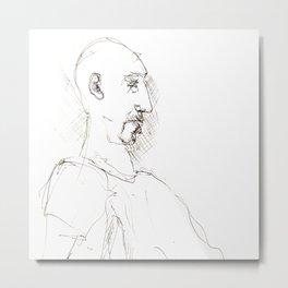 sketch of an men Metal Print