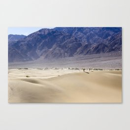 Couple Walking in Sand Dunes - Death Valley Canvas Print