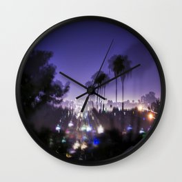 Chasing Light in Los Angeles Wall Clock