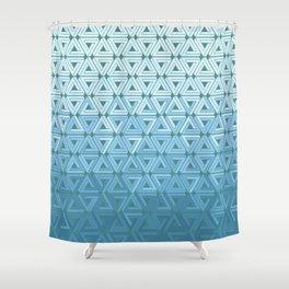 Glacial Air Geometric Shower Curtain
