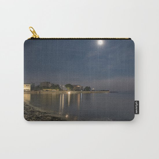 Foggy Moonlit Beach Carry-All Pouch