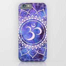 Om Mandala Purple Lavender Blue Galaxy iPhone Case