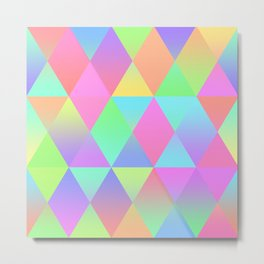 Colorful Geometric Pattern Prism Holographic Foil Triangle Texture Metal Print