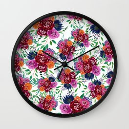 Her Roses Wall Clock
