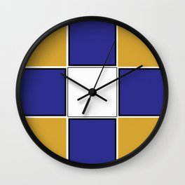 TEAM COLORS 3..... Navy , gold and white Wall Clock