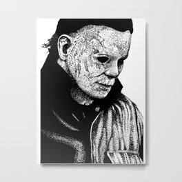 Halloween Micheal Myers Metal Print