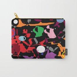 Black Multi Color Paint Splash Carry-All Pouch