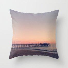 Balboa Pier Throw Pillow