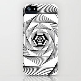 Machine Inside Hexagon iPhone Case