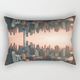 New York City Skyline Surreal Rectangular Pillow