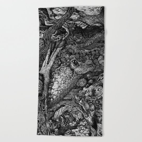 Elements of lives Beach Towel