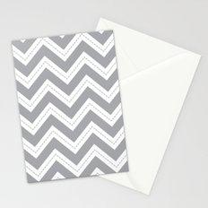 Grey Chevron Stationery Cards