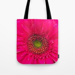 Neon Pink Daisy Tote Bag