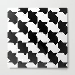 BW Tessellation 4 2 Metal Print