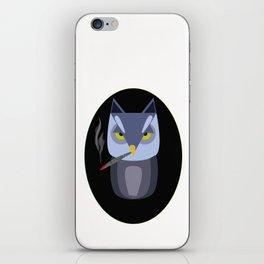 smoking owl iPhone Skin