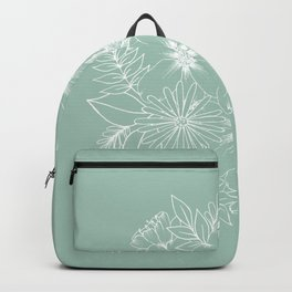 Floral Bouquet in Mint Backpack