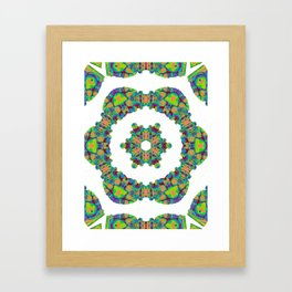 Bes mandala Framed Art Print