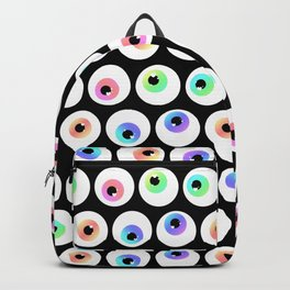 Lovely Sparkly Rainbow Eyeballs Backpack