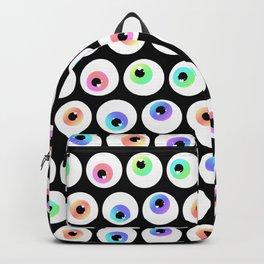 Lovely Sparkly Rainbow Eyeballs Backpack