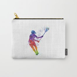 Lacrosse Girl Colorful Watercolor Sports Art Gift Carry-All Pouch
