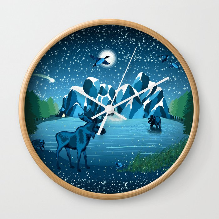 Fireflies Like Stars Wall Clock