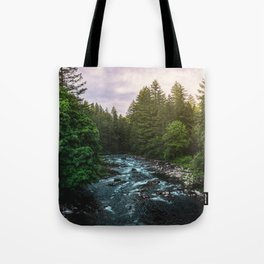 PNW River Run II - Pacific Northwest Nature Photography Tote Bag