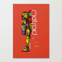 metroid Canvas Prints featuring Metroid by Slippytee Clothing