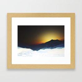 Mountain View (Series: 'On Stranger Tides') Framed Art Print