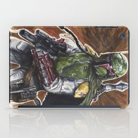 boba iPad Cases featuring Boba Fett by KristinMillerArt