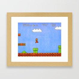 Super Mario Bros. Framed Art Print
