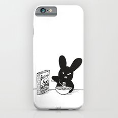 The Black Bunny of Doom enjoying his breakfast Slim Case iPhone 6s