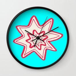 POW -  (Bright Blue) Wall Clock