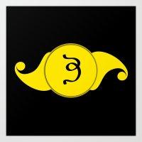 Brow Indigo Chakra Symbol Art Print