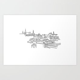 Vyšehrad - View from the castle Art Print