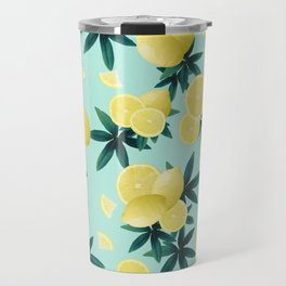 Lemon Twist Vibes #1 #tropical #fruit #decor #art #society6 Travel Mug