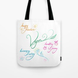Vegan & happy lifestyle Tote Bag
