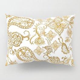 India henna pattern Pillow Sham