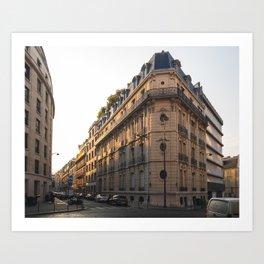 Sunrise in Paris Art Print