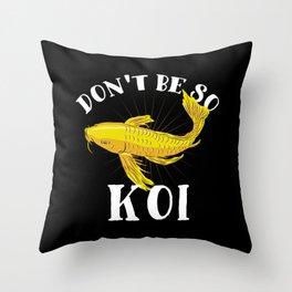Japanese Koi Fish T-Shirt nishikigoi carp Throw Pillow