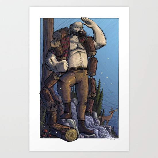 Mighty Chain of Logs Art Print